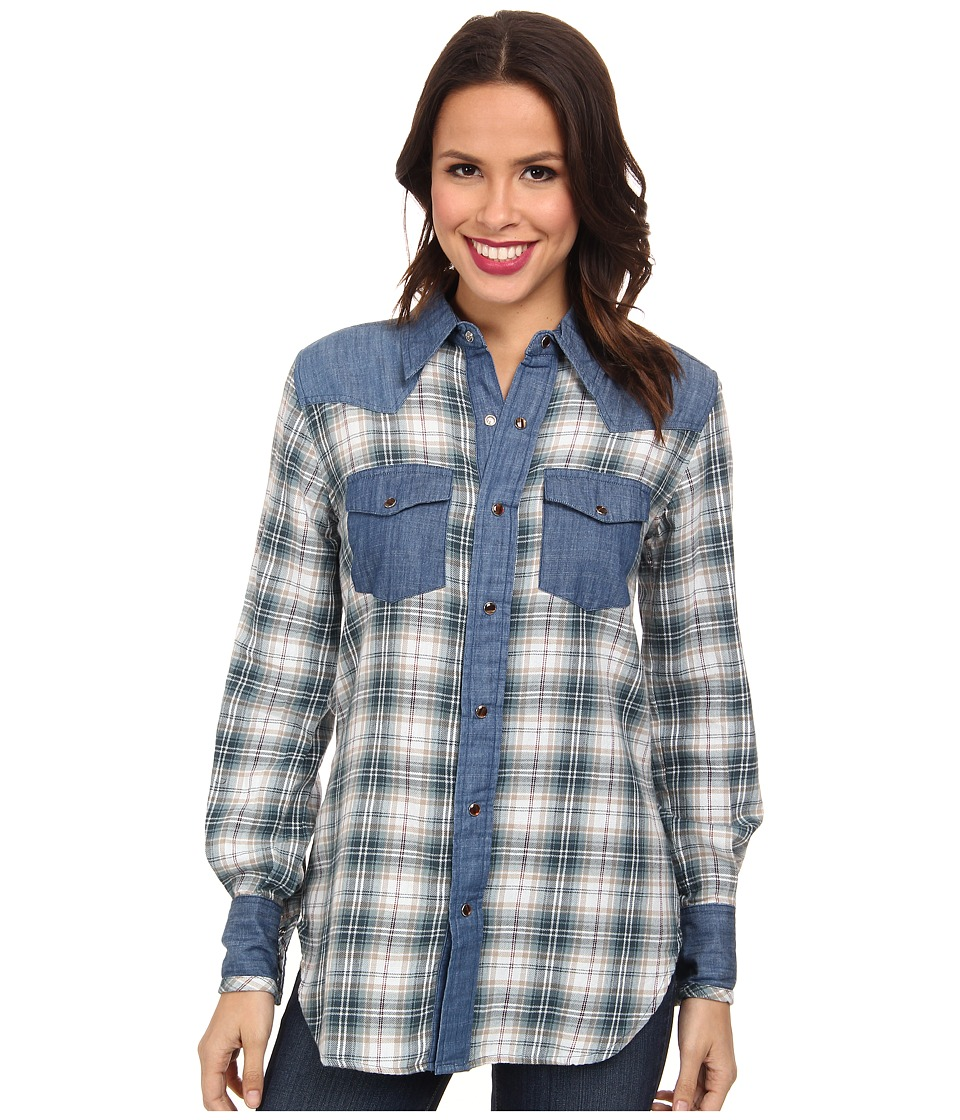Tasha Polizzi - Warrior Shirt (Indigo) Women's Clothing