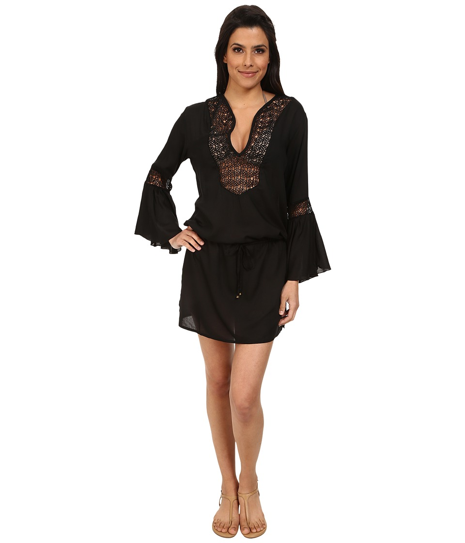 Vix - Solid Black Bella Tunic Cover-Up (Black) Women's Swimwear