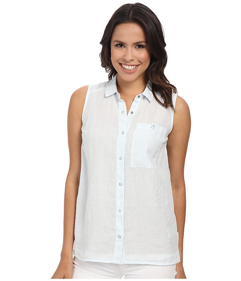 Calvin Klein Jeans - Sleeveless Shirt (Washed Blue) Women's Sleeveless
