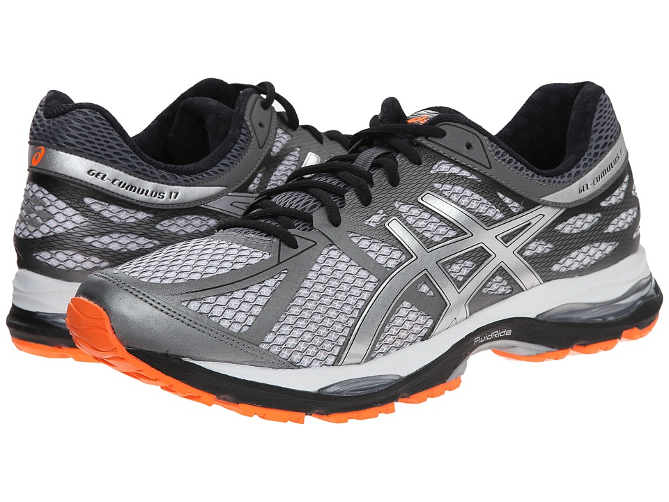 ASICS - Gel-Cumulus 17 (White/Silver/Hot Orange) Men's Running Shoes