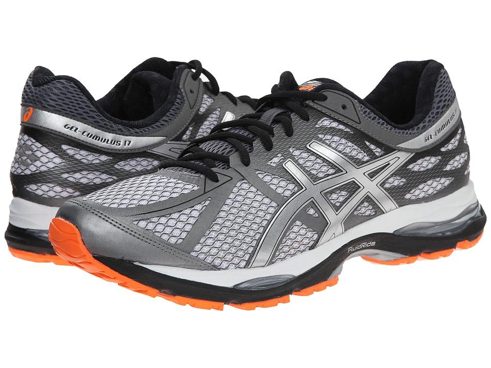 ASICS - Gel-Cumulus 17 (White/Silver/Hot Orange) Men's Running Shoes