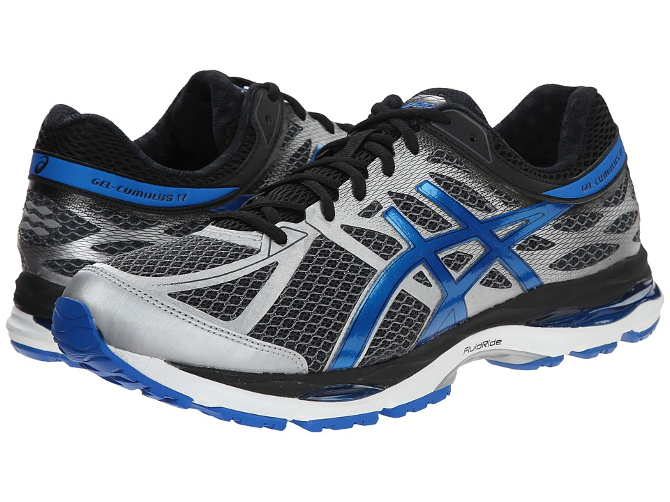 ASICS - Gel-Cumulus 17 (Mix Grey/Electric Blue/Black) Men