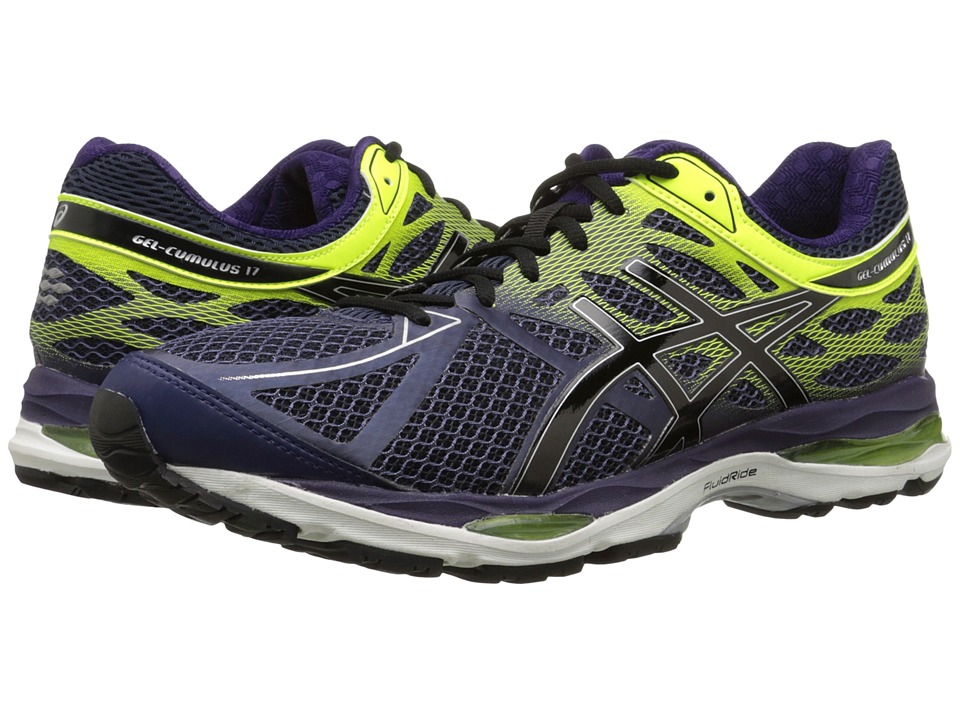 ASICS - Gel-Cumulus 17 (Indigo Blue/Black/Flash Yellow) Men's Running Shoes