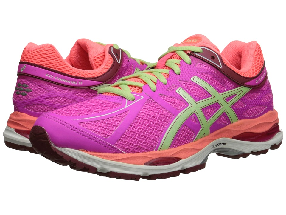 ASICS - Gel-Cumulus 17 (Pink Glow/Pistachio/Flash Coral) Women's Running Shoes