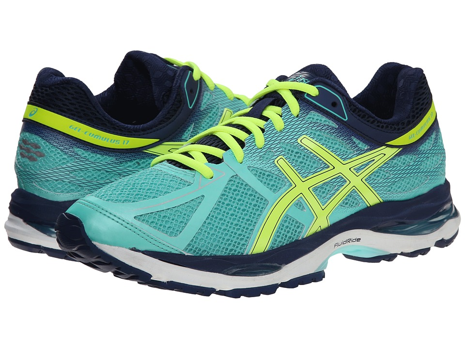 ASICS - Gel-Cumulus 17 (Aqua Mint/Flash Yellow/Navy) Women's Running Shoes