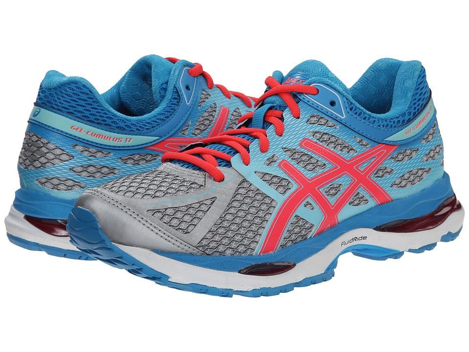 ASICS - Gel-Cumulus 17 (Silver/Hot Pink/Turquiose) Women's Running Shoes