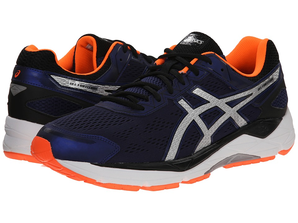 ASICS - Gel-Fortitude(r) 7 (Indigo Blue/Silver/Orange) Men's Running Shoes