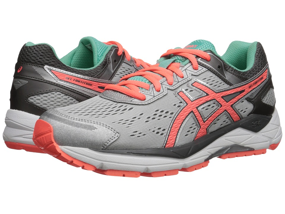 ASICS - Gel-Fortitude(r) 7 (Silver/Fiery Coral/Aqua Mint) Women's Running Shoes