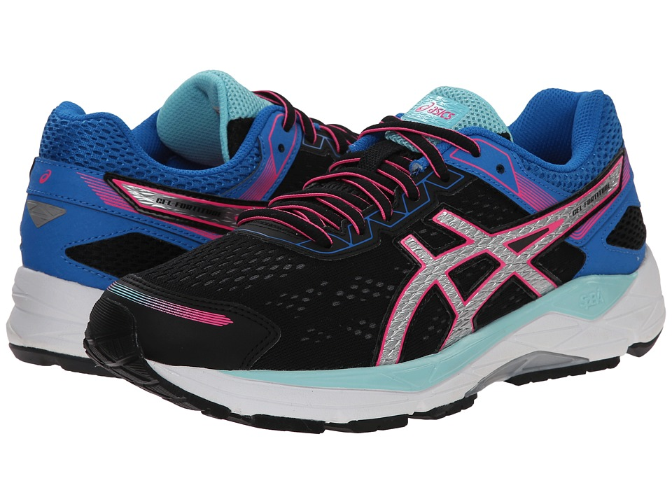 ASICS - Gel-Fortitude(r) 7 (Black/Silver/Electric Blue) Women's Running Shoes