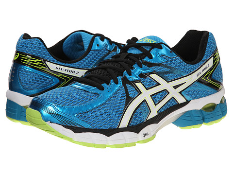 ASICS - GEL-Flux 2 (Atomic Blue/White/Safety Yellow) Men's Running Shoes