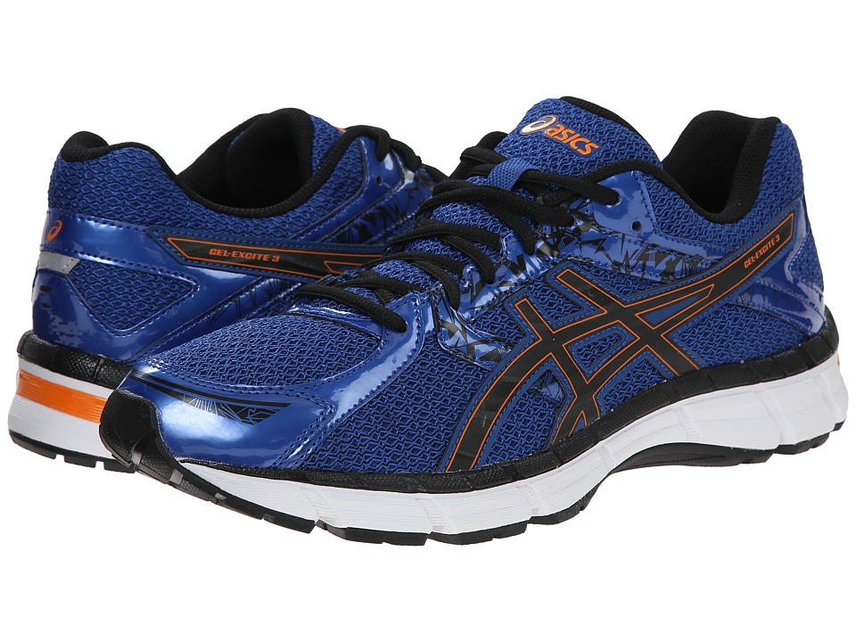 ASICS - Gel-Excite 3 (Blue/Black/Orange) Men's Running Shoes