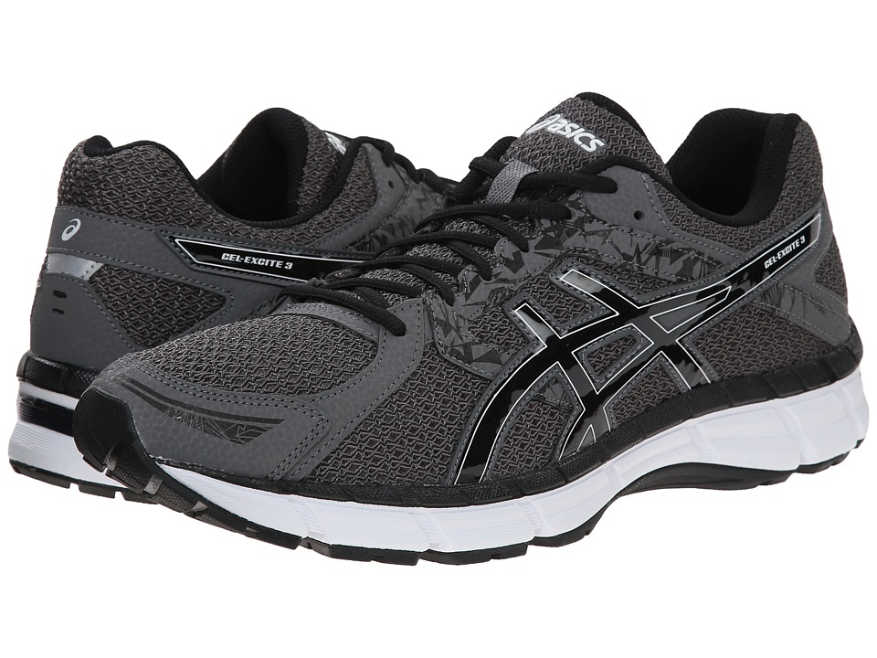 ASICS - Gel-Excite 3 (Carbon/Black/Silver Nubuck) Men's Running Shoes