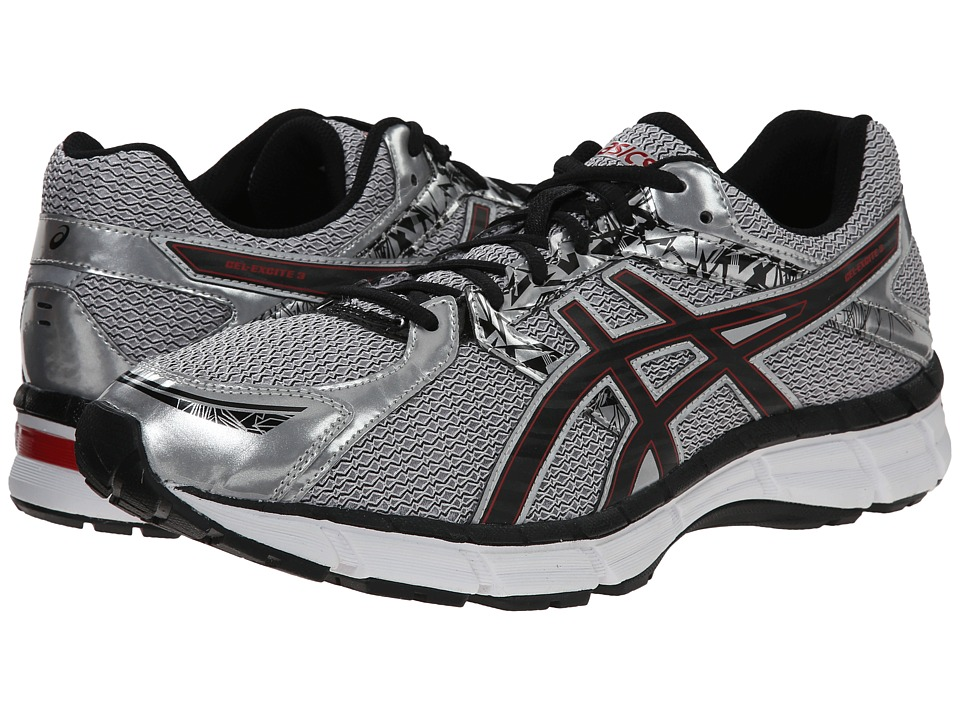 ASICS - Gel-Excite 3 (Silver/Black/Red) Men's Running Shoes