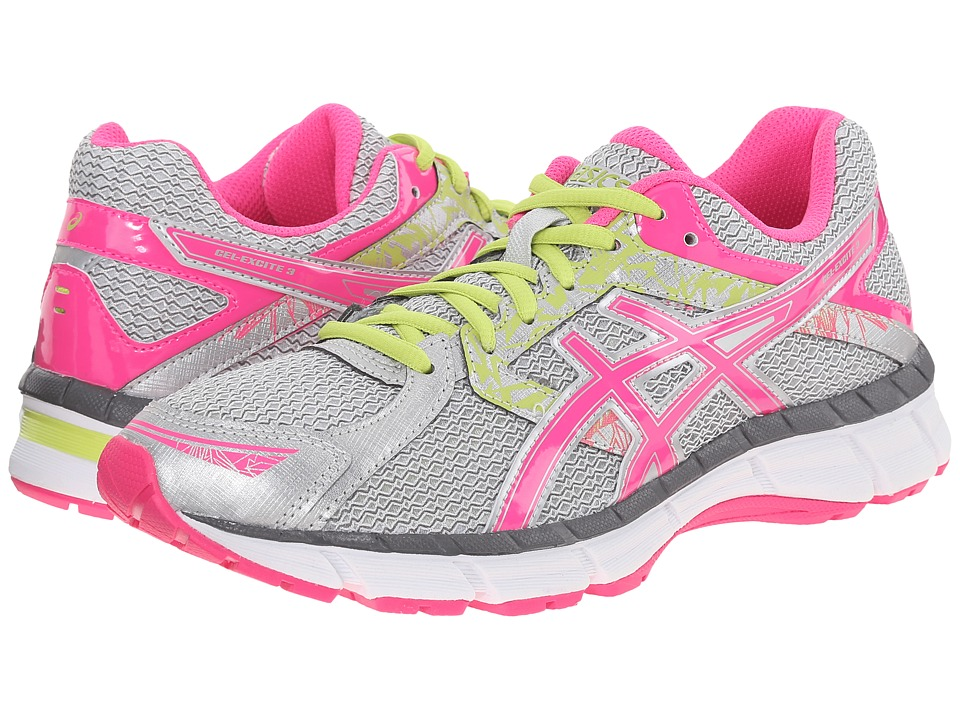 ASICS - Gel-Excite 3 (Silver/Hot Pink/Lime Punch) Women's Running Shoes