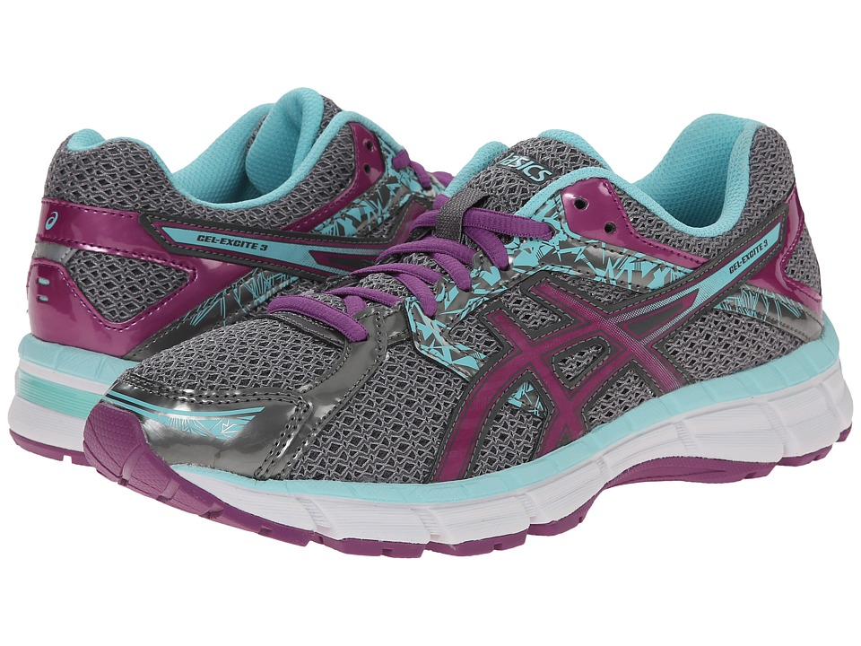 ASICS - Gel-Excite 3 (Charcoal/Grape/Aqua Splash) Women