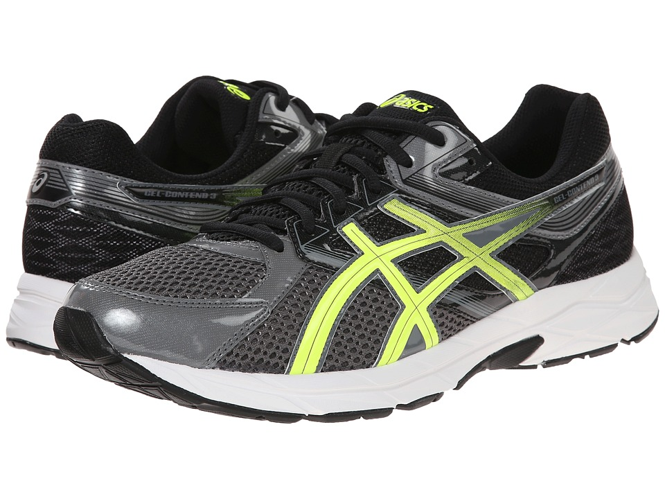 ASICS - GEL-Contend 3 (Carbon/Flash Yellow/Black) Men's Running Shoes