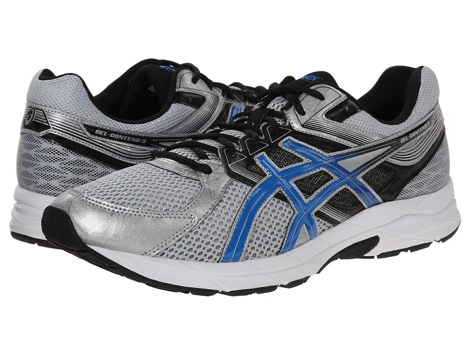 ASICS - GEL-Contend 3 (Silver/Electric Blue/Black) Men's Running Shoes