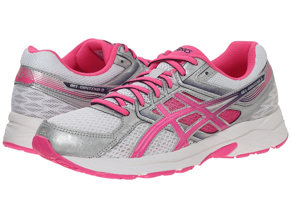 ASICS - GEL-Contend 3 (White/Hot Pink/Indigo Blue) Women's Running Shoes