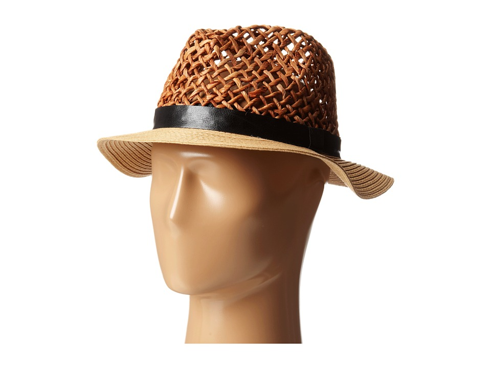 Steve Madden - Loose Weave Panama Hat (Natural) Traditional Hats