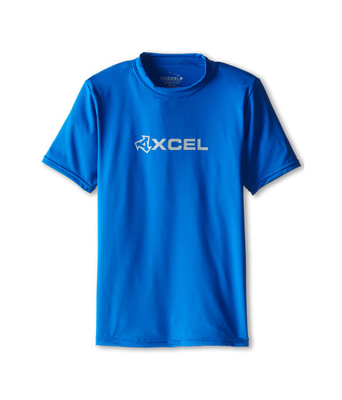 XCEL Wetsuits - Robben 4-Way Series S/S UV (Little Kids/Big Kids) (Cobalt Blue) Men