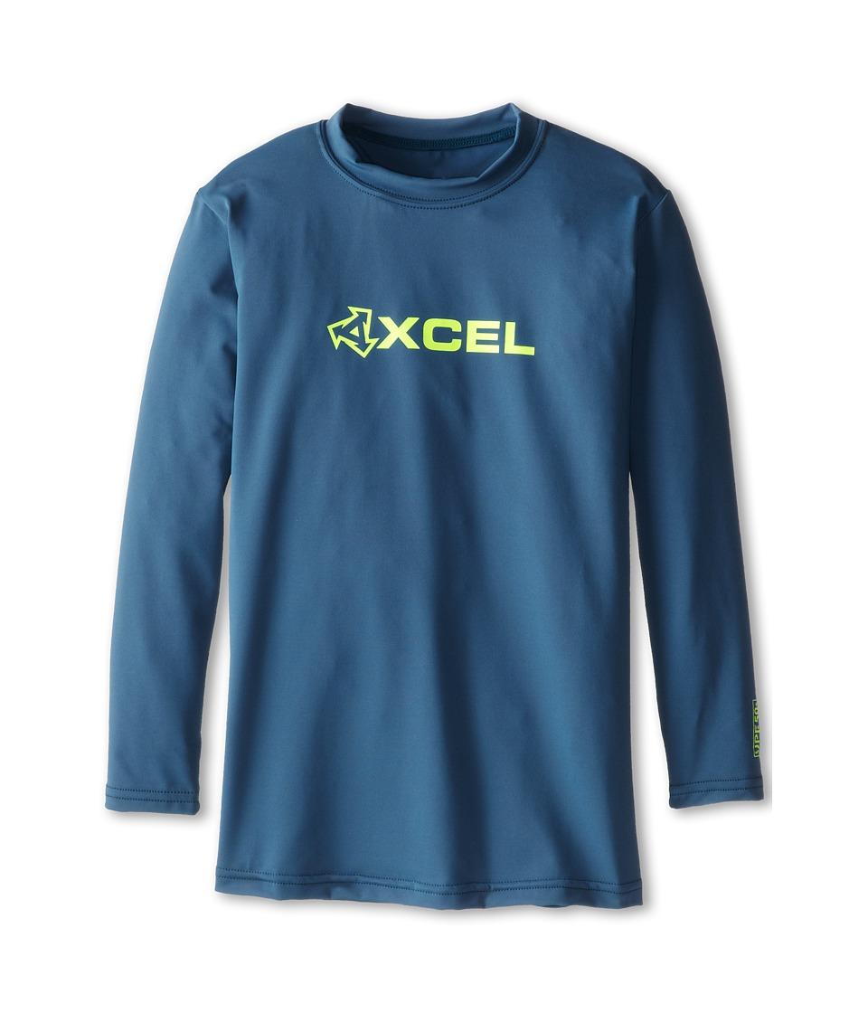 XCEL Wetsuits Robeen 4-Way Series L/S UV (Little Kids/Big Kids) (Marine Blue) Men