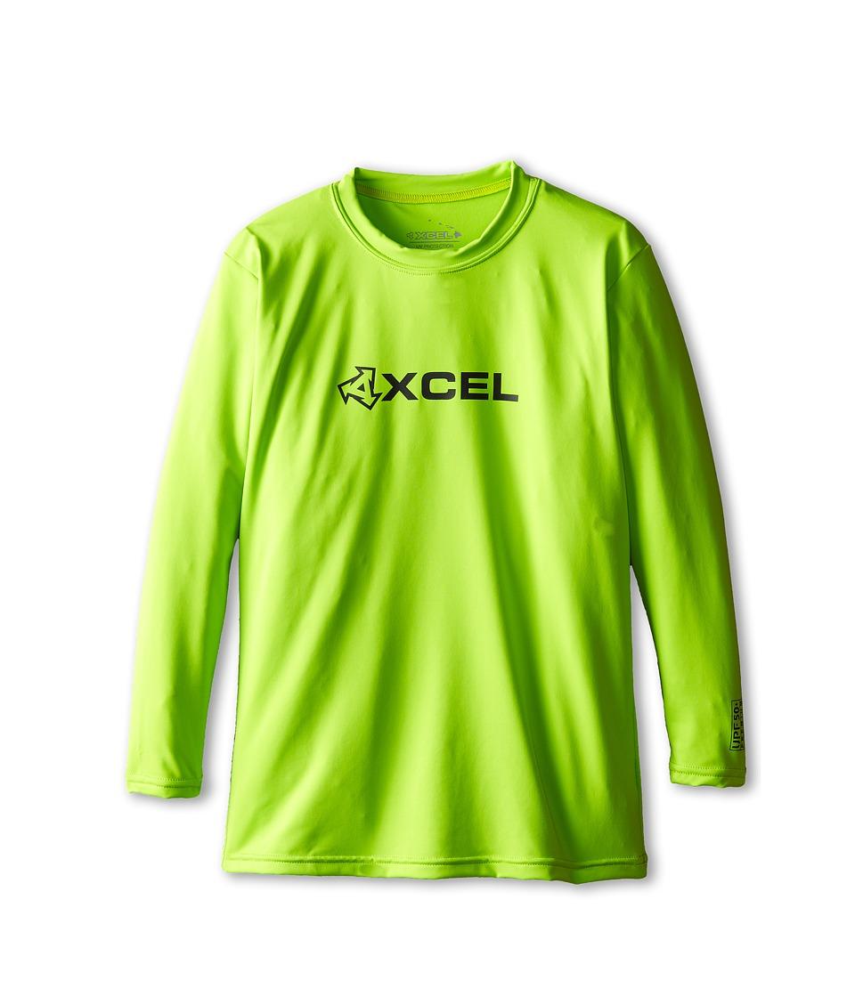 XCEL Wetsuits - Robeen 4-Way Series L/S UV (Little Kids/Big Kids) (Green Apple) Men's Swimwear