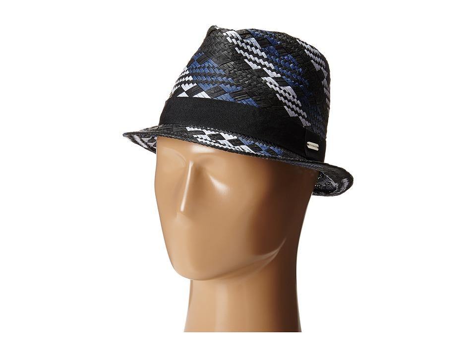 Steve Madden - Geo Pattern Fedora (Navy) Fedora Hats