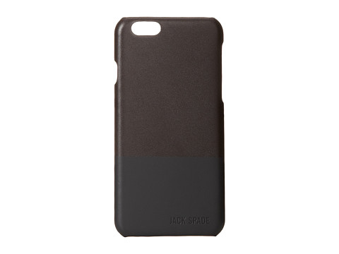 Jack Spade - Dipped Leather Case for iPhone 6 (Chocolate/Black) Cell Phone Case