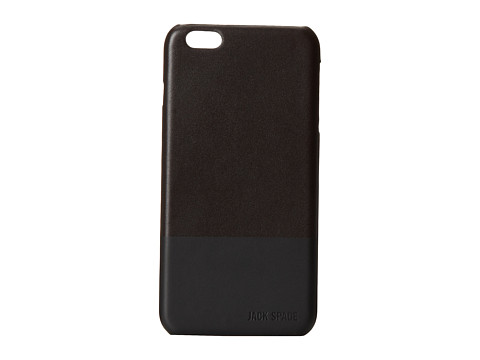 Jack Spade - Dipped Leather Case for iPhone 6 Plus (Chocolate/Black) Cell Phone Case