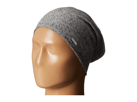 Steve Madden - Heather Ribbed Beanie (Grey) Beanies