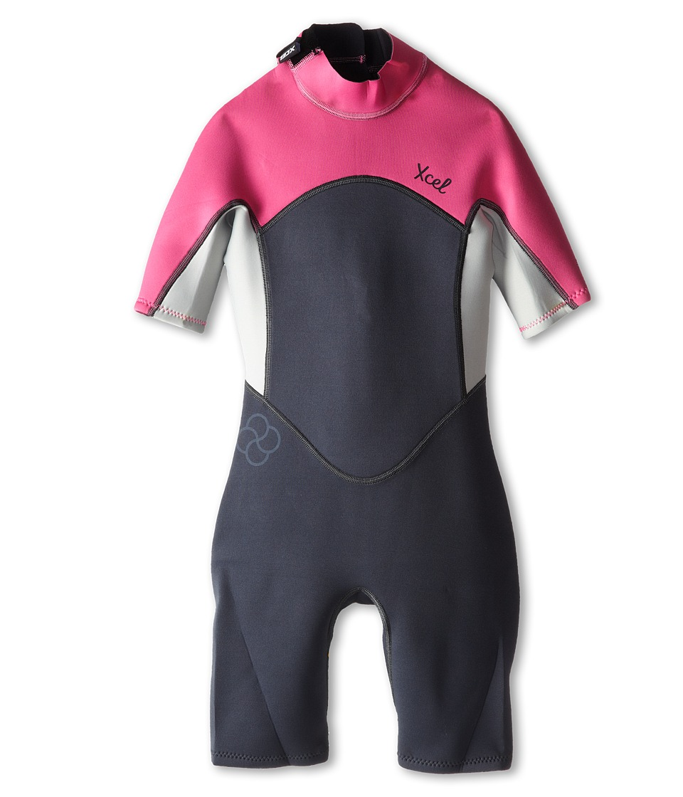 XCEL Wetsuits - 2mm Axis OS Spring (Little Kids/Big Kids) (Graphite/Ice Grey/Ice Pink) Swimsuits One Piece