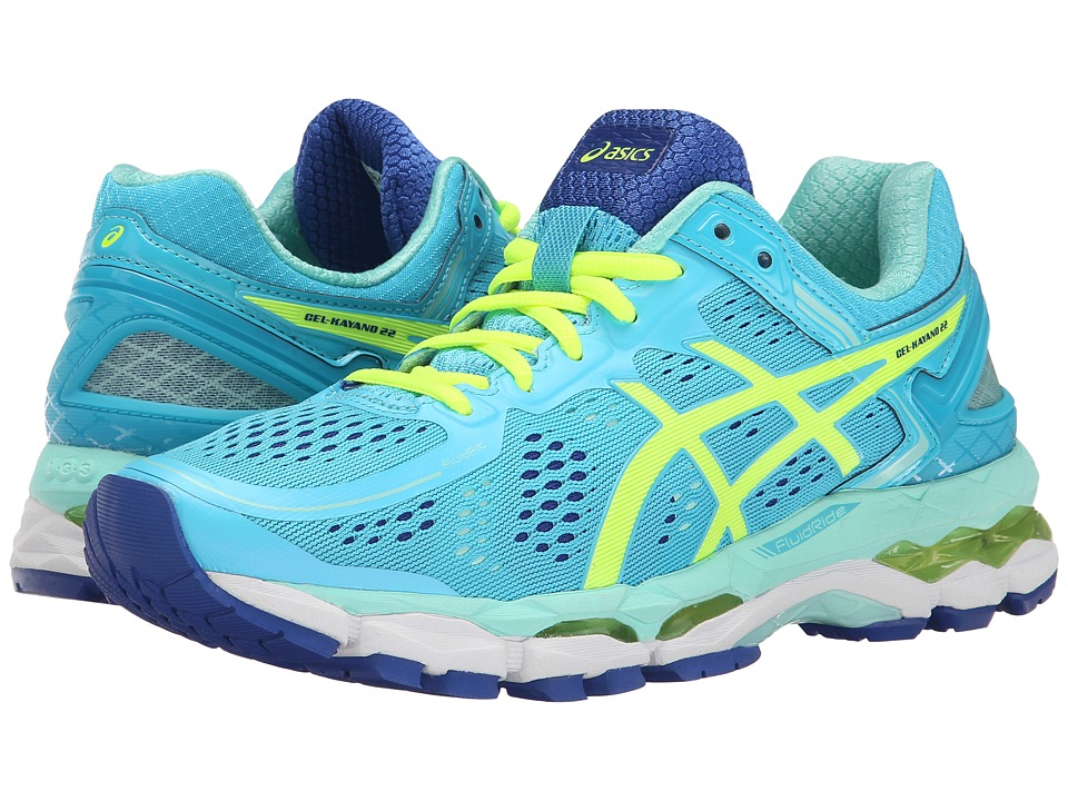 ASICS - GEL-Kayano 22 (Ice Blue/Flash Yellow) Women's Running Shoes