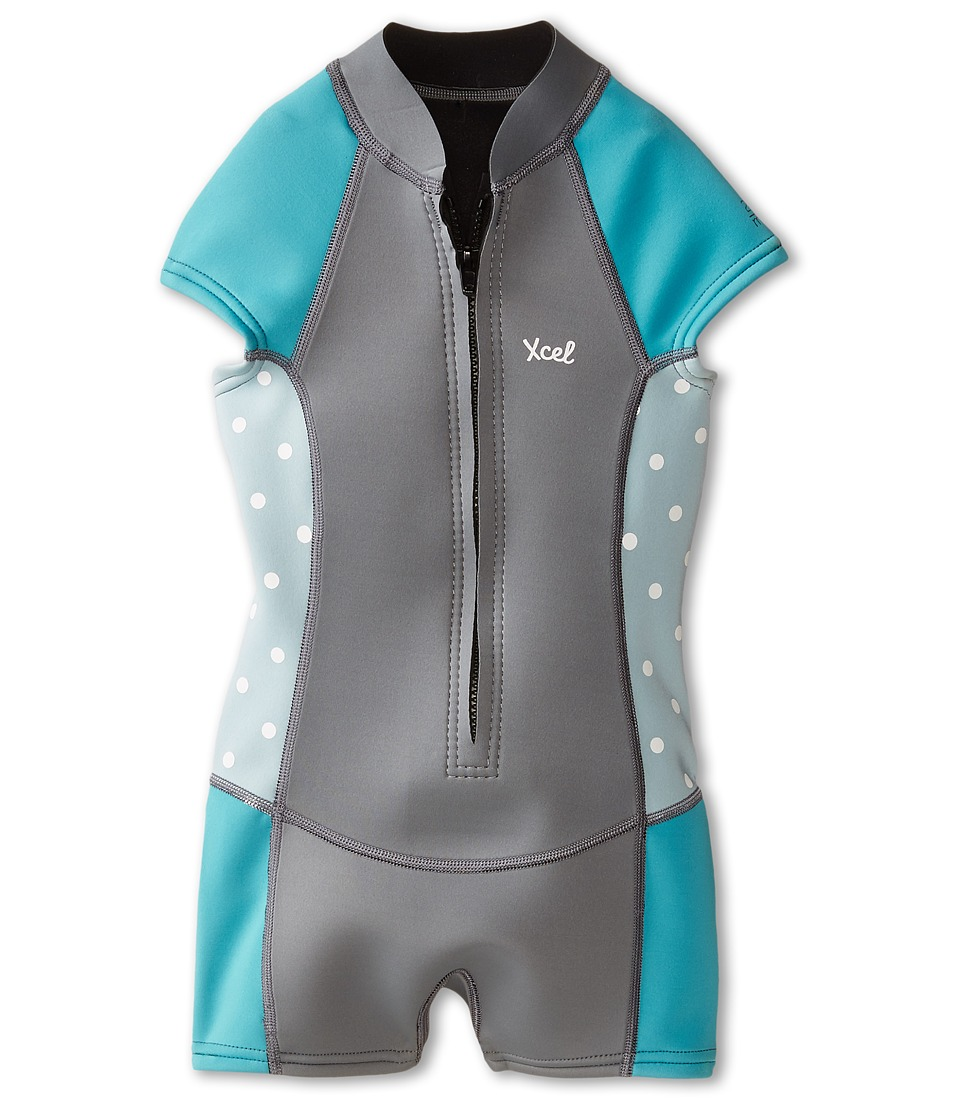 XCEL Wetsuits - 2mm Axis Cap Sleeve Spring Boy Cut (Little Kids/Big Kids) (Dark Grey/Cotton Candy/Ocean Blue) Women