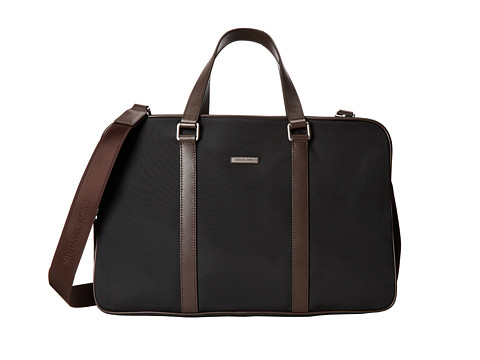 Michael Kors - Windsor Medium Duffle (Black/Brown) Duffel Bags