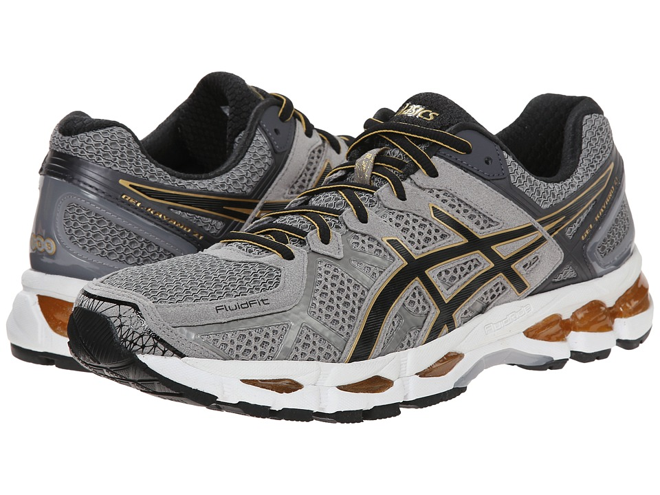 ASICS - GEL-Kayano 21 (Grey Beige/Black/Gold) Men