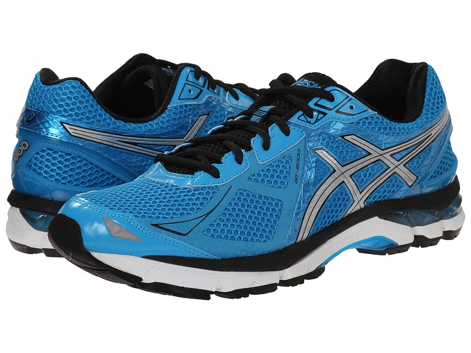 ASICS - GT-2000 3 (Turquoise/Silver/Black) Men's Running Shoes