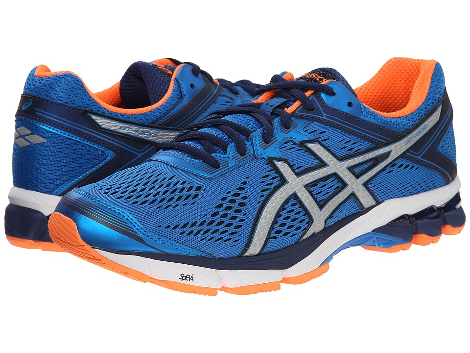 ASICS - GT-1000 4 (Electric Blue/Silver/Flash Orange) Men's Running Shoes