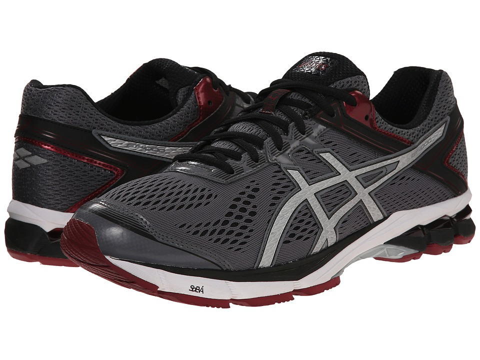 ASICS - GT-1000 4 (Carbon/Silver/Maroon) Men's Running Shoes