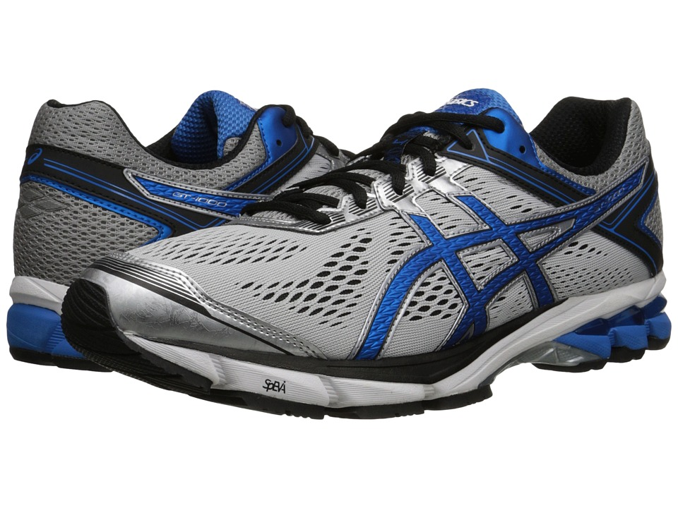 ASICS - GT-1000 4 (Silver/Electric Blue/Black) Men's Running Shoes