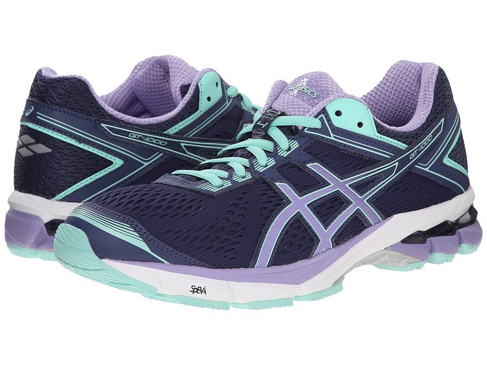 ASICS - GT-1000 4 (Midnight/Violet/Beach Glass) Women's Running Shoes