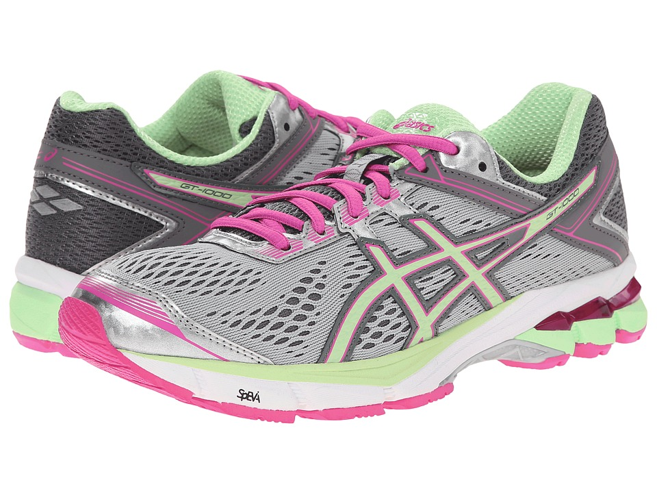 ASICS - GT-1000 4 (Silver/Pistachio/Pink Glow) Women's Running Shoes