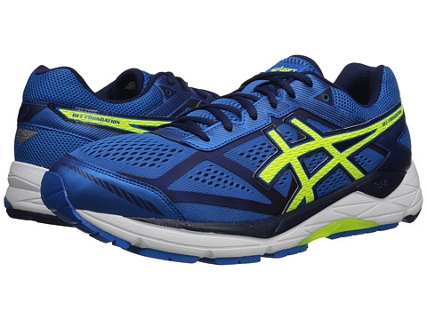 ASICS - Gel-Foundation 12 (Electric Blue/Flash Yellow/Indigo Blue) Men's Running Shoes