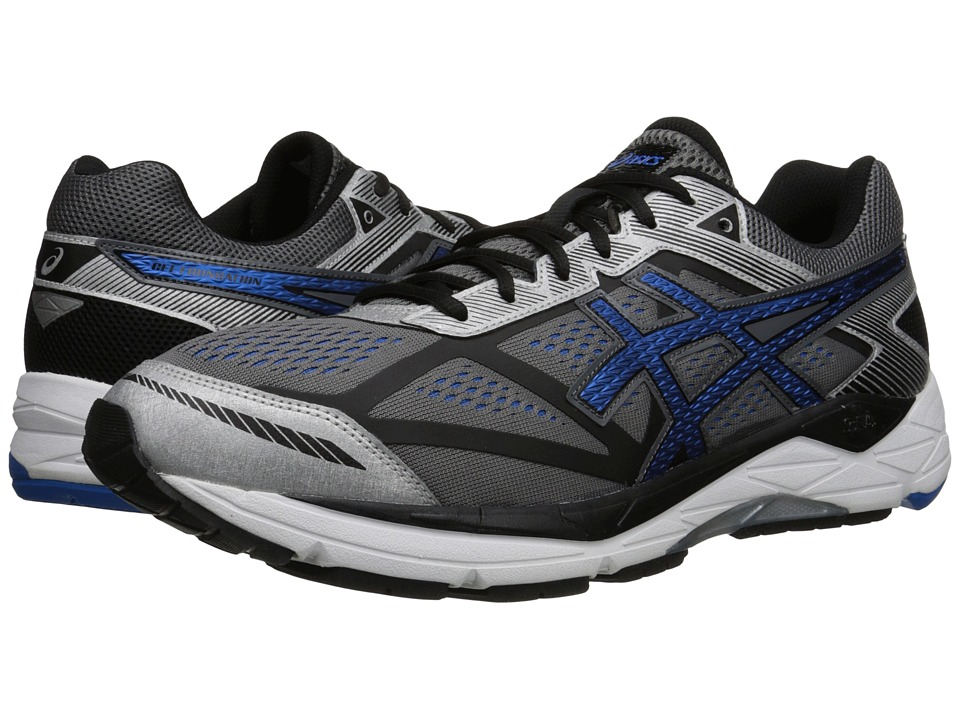 ASICS - Gel-Foundation(r) 12 (Carbon/Electric Blue/Black) Men's Running Shoes