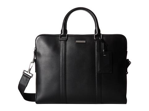 Michael Kors - Warren Double Zip Briefcase (Black) Briefcase Bags