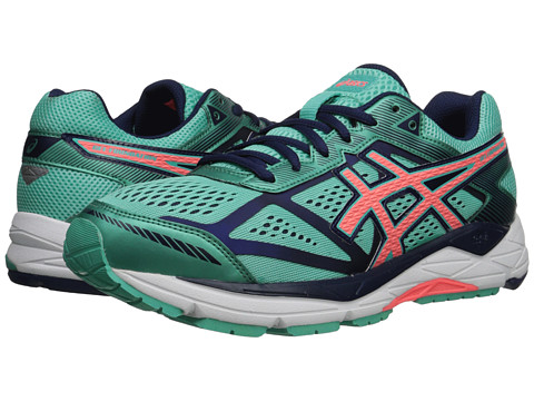 ASICS - Gel-Foundation 12 (Aqua Mint/Flash Coral/Indigo Blue) Women's Running Shoes