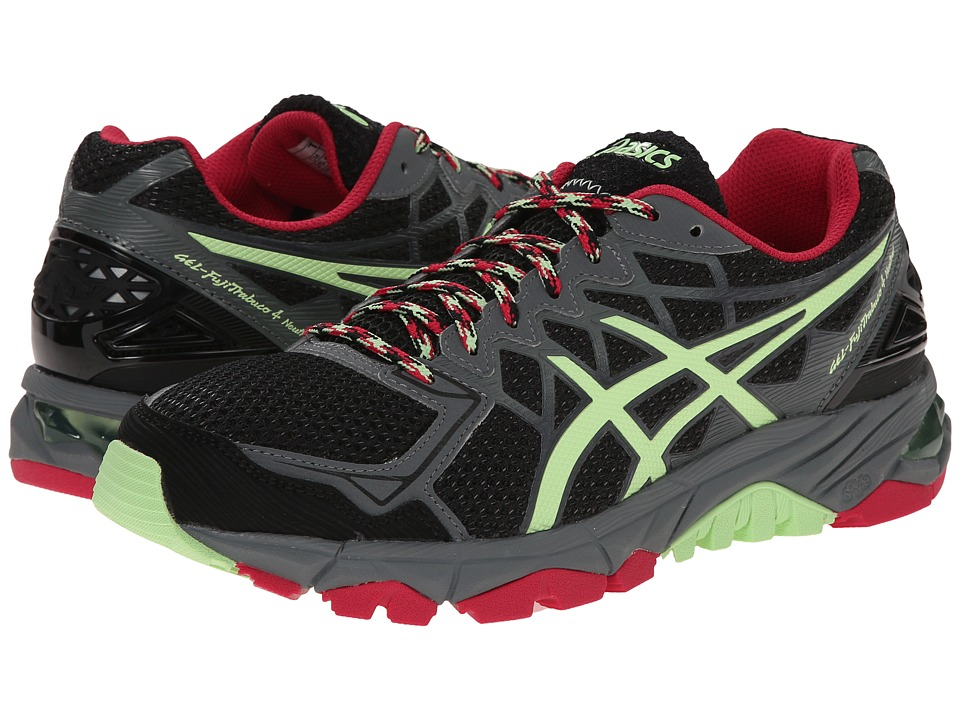 ASICS - GEL-Fuji-Trabuco 4 Neutral (Black/Pistachio/Wild Raspberry) Women's Running Shoes
