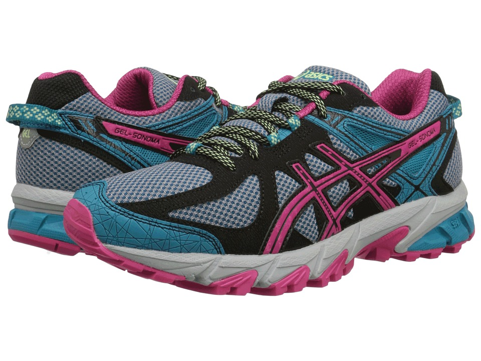 ASICS - Gel-Sonoma (Enamel Blue/Magenta/Black) Women's Running Shoes
