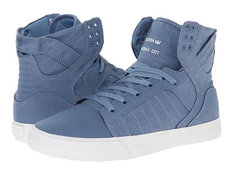 Supra - Skytop D (Slate Blue/White) Men's Skate Shoes