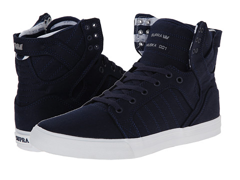Supra - Skytop (Navy/White) Men's Skate Shoes