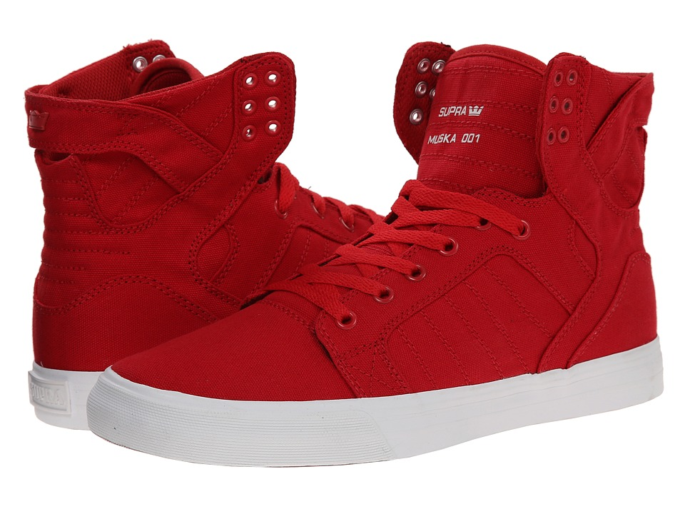 Supra - Skytop D (Red/White) Men's Skate Shoes